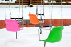 Carrusel de cadena colorido del oscilación Foto de archivo