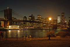 Carrusel de Jane, parque del puente de Brooklyn, Nueva York Fotografía de archivo