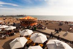Carrusel de la playa imágenes de archivo libres de regalías