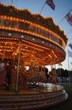 Carrusel de la vendimia en la noche Imagen de archivo