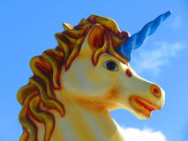 Carrusel de los niños del unicornio Foto de archivo libre de regalías