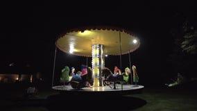 Carrusel de los niños en el parque imágenes de archivo libres de regalías