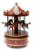 Carrusel de madera del juguete Foto de archivo libre de regalías