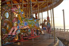 Carrusel de pilier de Brighton Photographie stock