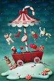 Carrusel del caramelo stock de ilustración