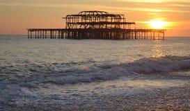 Carrusel del embarcadero de Brighton Fotografía de archivo