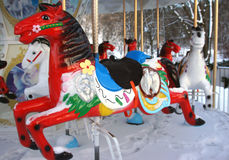 Carrusel del invierno en Vilna Imagen de archivo