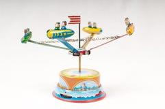 Carrusel del juguete del estaño Imagen de archivo libre de regalías