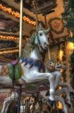 Carrusel del mercado de la Navidad de París Imagen de archivo