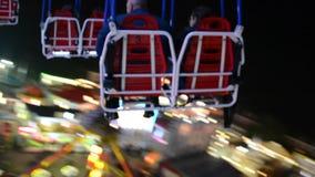 Carrusel en el aire y la perspectiva vídeo metrajes
