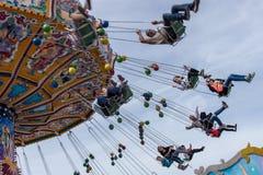 Carrusel en el festival de primavera en Munich, Alemania, 2015 Fotos de archivo