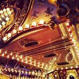 Carrusel en el Funfair Fotografía de archivo