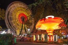 Carrusel en el parque de atracciones Sochi Fotografía de archivo