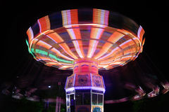Carrusel en la noche Imagen de archivo libre de regalías