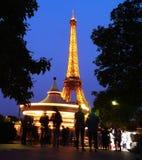 Carrusel en la torre Eiffel, París fotografía de archivo