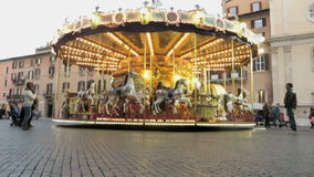 Carrusel en Roma almacen de metraje de vídeo