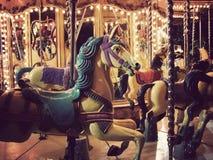 Carrusel espeluznante Fotografía de archivo libre de regalías