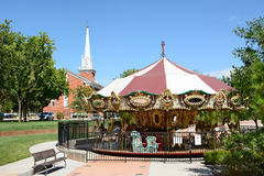 Carrusel San Jorge de la plaza Foto de archivo