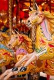 Carrusel tradicional del funfair Foto de archivo libre de regalías