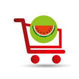 Carry buying fruit watermelon icon graphic Royalty Free Stock Image
