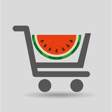 Carry buying fruit watermelon icon graphic Stock Images