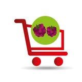 Carry buying raspberry fruit icon graphic Stock Photos