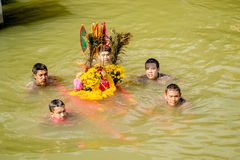 Carry Chinese Goddess Palanquins Across The River Stock Images