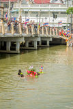 Carry Chinese Goddess Palanquins Across The River Royalty Free Stock Photo