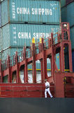 Carry containers to quay Stock Images