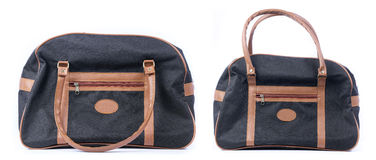Carry On Duffel Bag negro Fotografía de archivo libre de regalías