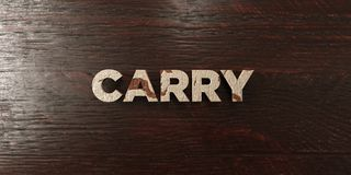 Carry - grungy wooden headline on Maple  - 3D rendered royalty free stock image Stock Images