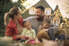 Carry on itch other. Family time. Stock Photos