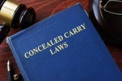 Carry Laws escondido imagens de stock