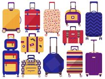 Free Carry On Luggage And Travel Suitcases Royalty Free Stock Images - 144364809