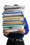 Carry pile of paperworks Stock Photo