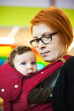 Carrying Baby Stock Photography