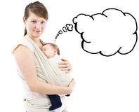 Carrying a baby Royalty Free Stock Photography