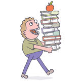 Carrying books Royalty Free Stock Image