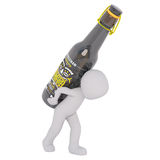 Carrying bottle of beer concept Royalty Free Stock Photos