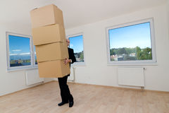 Carrying Boxes Royalty Free Stock Photography