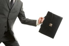 Carrying briefcase Royalty Free Stock Photos