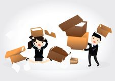 Carrying cardboard boxes Royalty Free Stock Photos