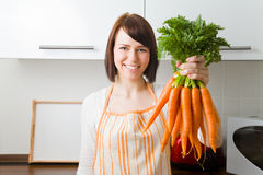 Carrying carrots Stock Photos