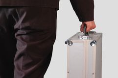 Carrying case. Isolated Stock Image