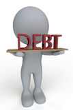 Carrying Debt Royalty Free Stock Images
