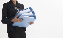 Carrying file Stock Image