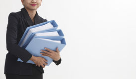 Carrying file Royalty Free Stock Photos