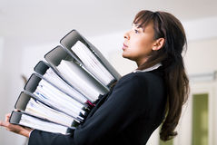 Carrying files Royalty Free Stock Image