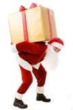 Carrying giftbox Royalty Free Stock Photos
