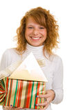 Carrying gifts Royalty Free Stock Photo